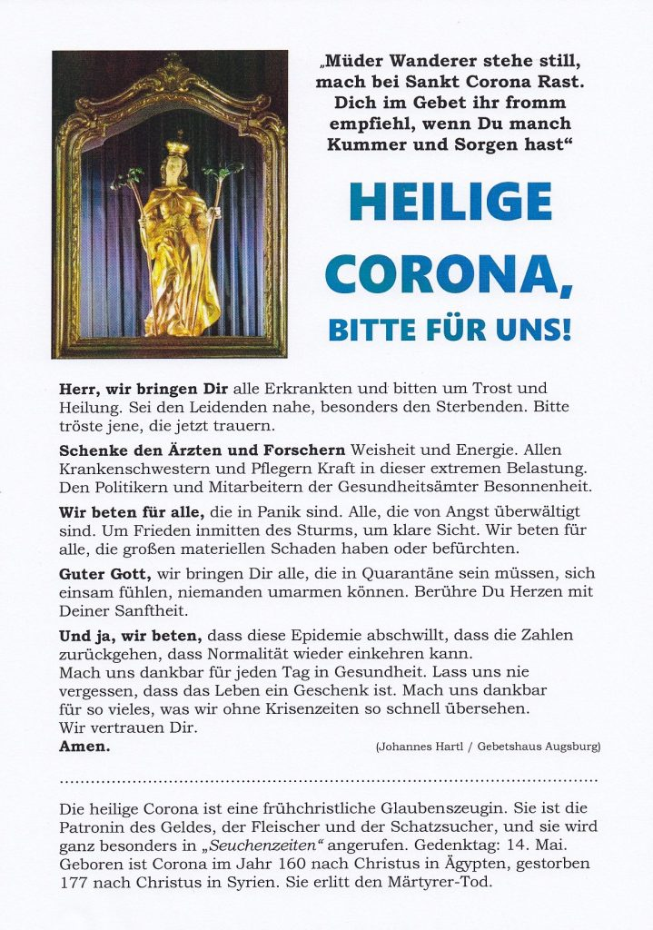 St. Corona Heilige